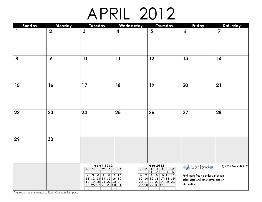 April 2012 Monthly Expenses