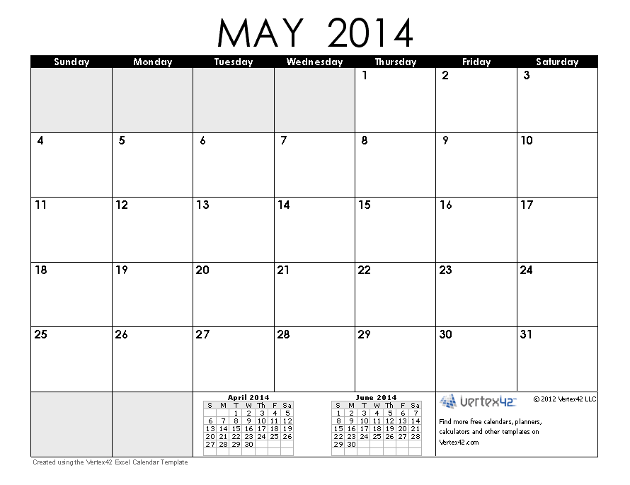 2014 Calendar Templates and Images
