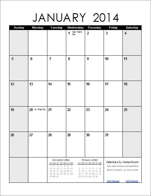 Weekly Calendar Vertex : Free printable calendar monthly calendars