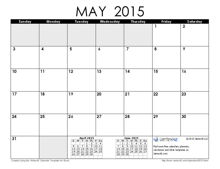 Printable may 2015 calendars free printable calendar prin